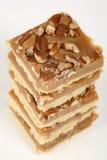 De cakes van de de karamelzandkoek van de pecannoot Stock Afbeeldingen