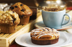 De cakes van de koffie stock afbeelding