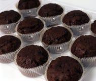 De Cakes van de kop in een rij. Royalty-vrije Stock Afbeeldingen