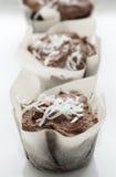 De Cakes van de Kop van de Kokosnoot van de chocolade Stock Afbeelding