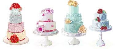 De cakes van de room royalty-vrije illustratie