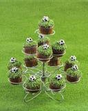 De Cakes van de voetbal stock afbeeldingen