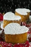 De cakes van de Vorm van het hart Royalty-vrije Stock Foto's