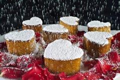 De cakes van de Vorm van het hart Royalty-vrije Stock Fotografie