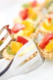 De cakes van het fruit Stock Foto