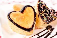 De cakes van het hart Stock Foto
