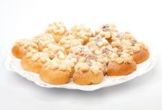 De cakes van het huwelijk met suiker Royalty-vrije Stock Fotografie