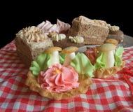 De cakes van het koekje Stock Afbeelding