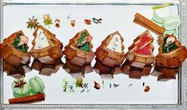 De Cakes van de Kerstmisvakantie Royalty-vrije Stock Afbeelding