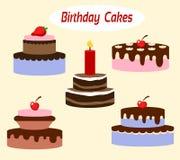 De Cakes van de verjaardagspartij voor Verkoop Royalty-vrije Stock Fotografie