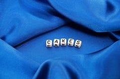 De Cakes van Word in Voedsel Verwante Reeks Royalty-vrije Stock Afbeeldingen