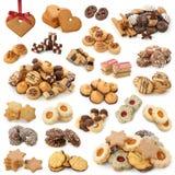De cakesinzameling van Kerstmis Stock Foto