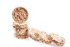 De cakesstapel van de dieetrijst die op witte achtergrond wordt geïsoleerd Royalty-vrije Stock Afbeeldingen