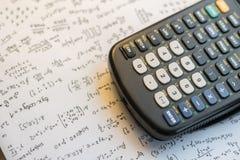 De calculator van de close-upknoop Selectieve nadruk stock foto