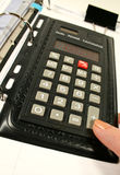 De Calculator van de aktentas Stock Foto