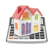De Calculator van de hypotheek Stock Afbeeldingen