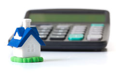 De calculator van de hypotheek Royalty-vrije Stock Afbeeldingen