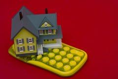 De Calculator van de hypotheek stock fotografie