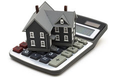 De Calculator van de hypotheek royalty-vrije stock foto's