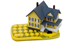 De Calculator van de hypotheek Stock Foto's