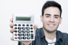 De calculator van de mensenholding Royalty-vrije Stock Foto