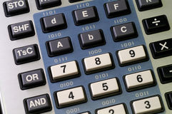 De calculator van de programmeur Stock Fotografie