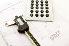 De calculator van het kaliber Royalty-vrije Stock Foto's
