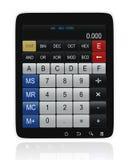 De Calculator van PC van de tablet Stock Afbeelding