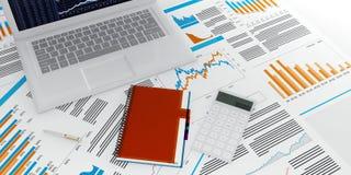 De Calculator van PC van de tablet Stock Foto