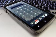 De calculator van Smartphone Royalty-vrije Stock Foto