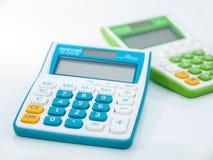 De calculator voor berekent stock afbeeldingen