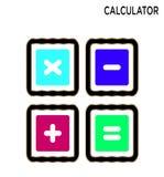 De calculatorknopen zetten editable pictogram om royalty-vrije illustratie