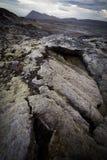 De caldera van de vulkaan stock foto