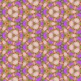 De Caleidoscoop van de patroonbloem in pastelkleuren, effect de lentebloemen Stock Fotografie