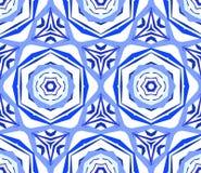 De caleidoscopische Achtergrond van de Patroon Blauwe Bloem Royalty-vrije Stock Foto's