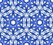 De caleidoscopische Bloem van de Patroon Blauwe Ster Stock Afbeelding