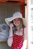 De call-girl van de glimlach Royalty-vrije Stock Afbeelding