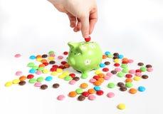 De calorieën van de besparing stock foto's