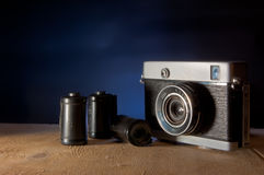 De camera retro film Stock Afbeeldingen