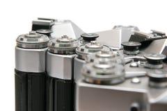 De camera's van de film SLR - detail Royalty-vrije Stock Afbeelding