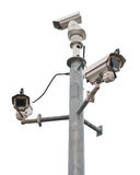 De camera's van het toezicht royalty-vrije stock afbeeldingen