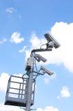 De Camera's van kabeltelevisie Royalty-vrije Stock Afbeeldingen