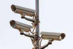 De camera's van veiligheidskabeltelevisie royalty-vrije stock foto