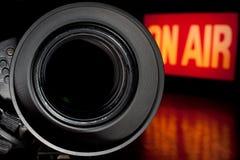 De Camera van de Film van de televisie Stock Fotografie