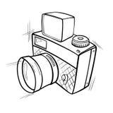 De camera van de foto royalty-vrije illustratie