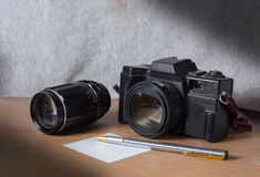 De camera van de stillevenfilm. stock foto
