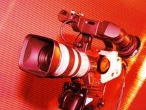 De camera van de televisie stock foto's