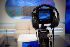 De camera van de televisiestudio royalty-vrije stock afbeeldingen