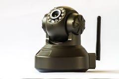 De camera van de veiligheid op witte achtergrond IP camera Stock Afbeeldingen
