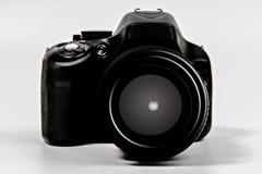 De camera van Dslr met zoomlens Stock Afbeelding